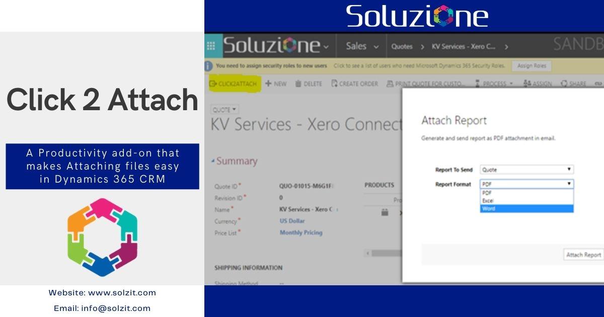 Click To Attach Add-on for Dynamics 365 CE in Soluzione