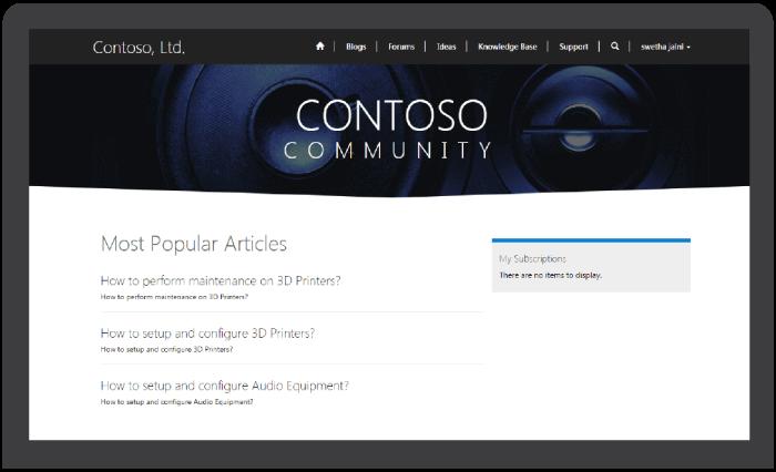 Community Crm Portal in Solzit