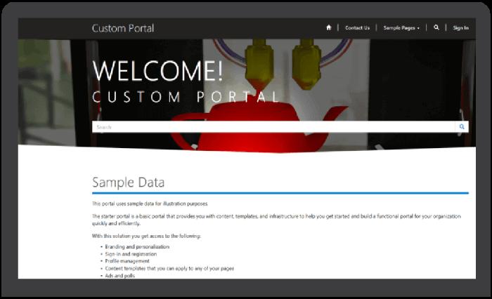 Custom Portal in Soluzione