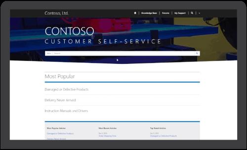 Customer Self Service Portal in Solzit