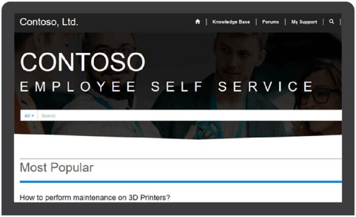 Employee Self Service Portal in Solzit